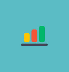 Bar chart icon flat element vector