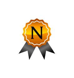 Best quality emblem letter n vector