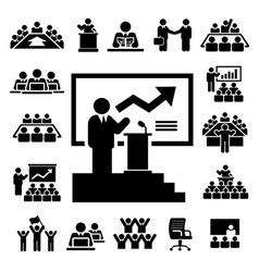 Business and Management Icons set vector