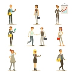 Business Finance And Office Employees In Suits vector image