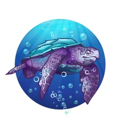 Cartoon image of a sea turtle vector image
