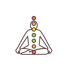 chakra system rgb color icon vector image