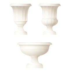 Classic style decorative vase vector