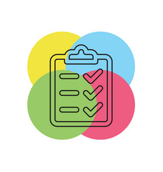 clipboard icon - check list vector image