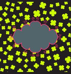 Cloud frame print vector