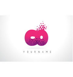 Co c o letter logo with pink purple color and vector