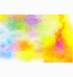 colorful watercolor abstract background design vector image