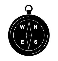 compass glyph black icon vector image
