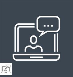 customer service thin line icon vector image