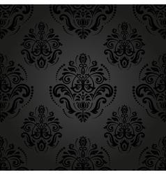 Damask Seamless Pattern Orient Dark Background vector