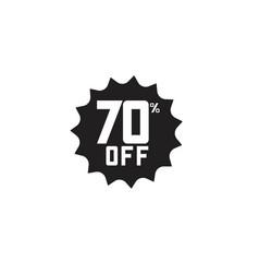 Discount 70 off label template design vector