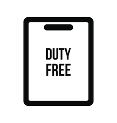 Duty free bag icon vector image