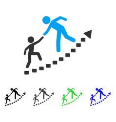 Education progress flat icon vector
