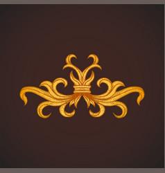 engraving decoration vintage tattoo element vector image