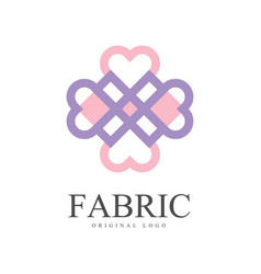 Fabric original logo template creative design vector