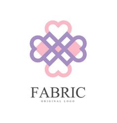 fabric original logo template creative design vector image