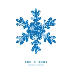 falling snowflakes Christmas snowflake silhouette vector image