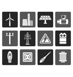 Flat Electricity and power icons vector image
