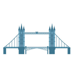 Flat style tower bridge london england symbol vector