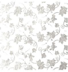 Flower silver foil design vector