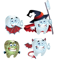 fun Halloween tooth vector image