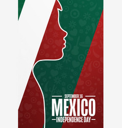 happy mexico independence day september 16 vector image