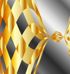 High grade metal wave background vector