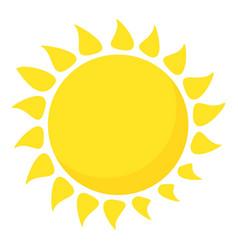 hot sun icon cartoon style vector image