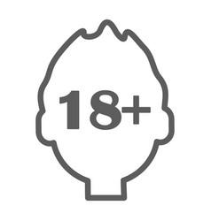 Human head with inscription 18 plus icon vector