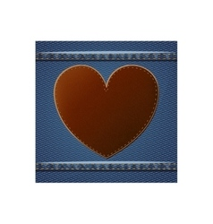 Isolated denim frame with heart design vector image
