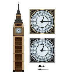 Landmark Big Ben and the clock vector image