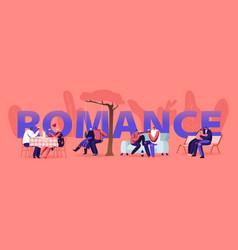 Loving couple romance sparetime concept young men vector