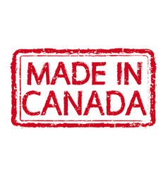 made in canada stamp text vector image
