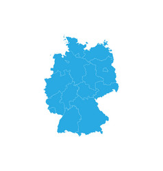 map of germany high detailed map - germany vector image