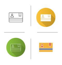 Membership card icon vector
