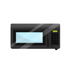 microwave oven for cook or heat food household vector image