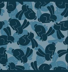 Military texture rabbit army bunny seamless vector