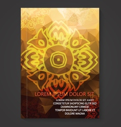 Modern Thai Art Pattern Flyer Design vector