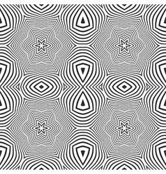 optical art abstract stars seamless deco pattern vector image