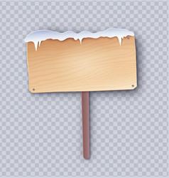 Paper cut wooden signboard vector