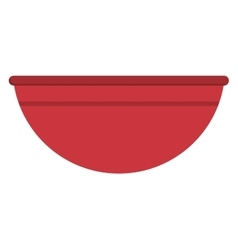 plastic bowl icon vector image