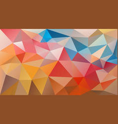 Polygonal background variegated vector