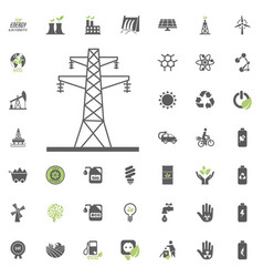 power towers icon eco and alternative energy vector image