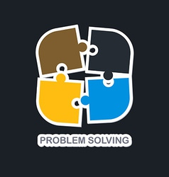 problem solving vector image
