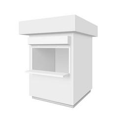 Promotional or trade outdoor kiosk vector