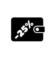 purse and percent savings economy flat vector image