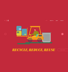 recycling and storage trash for further vector image