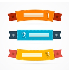 Ribbons Labels Set in Retro Colors vector image