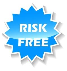 Risk free blue icon vector