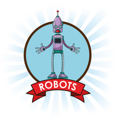 Robots technology engineering banner vector